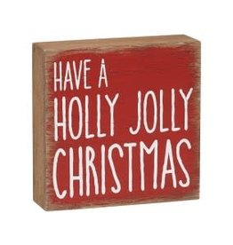 Collins Painting & Desgin Holiday Box Sign Holly Jolly