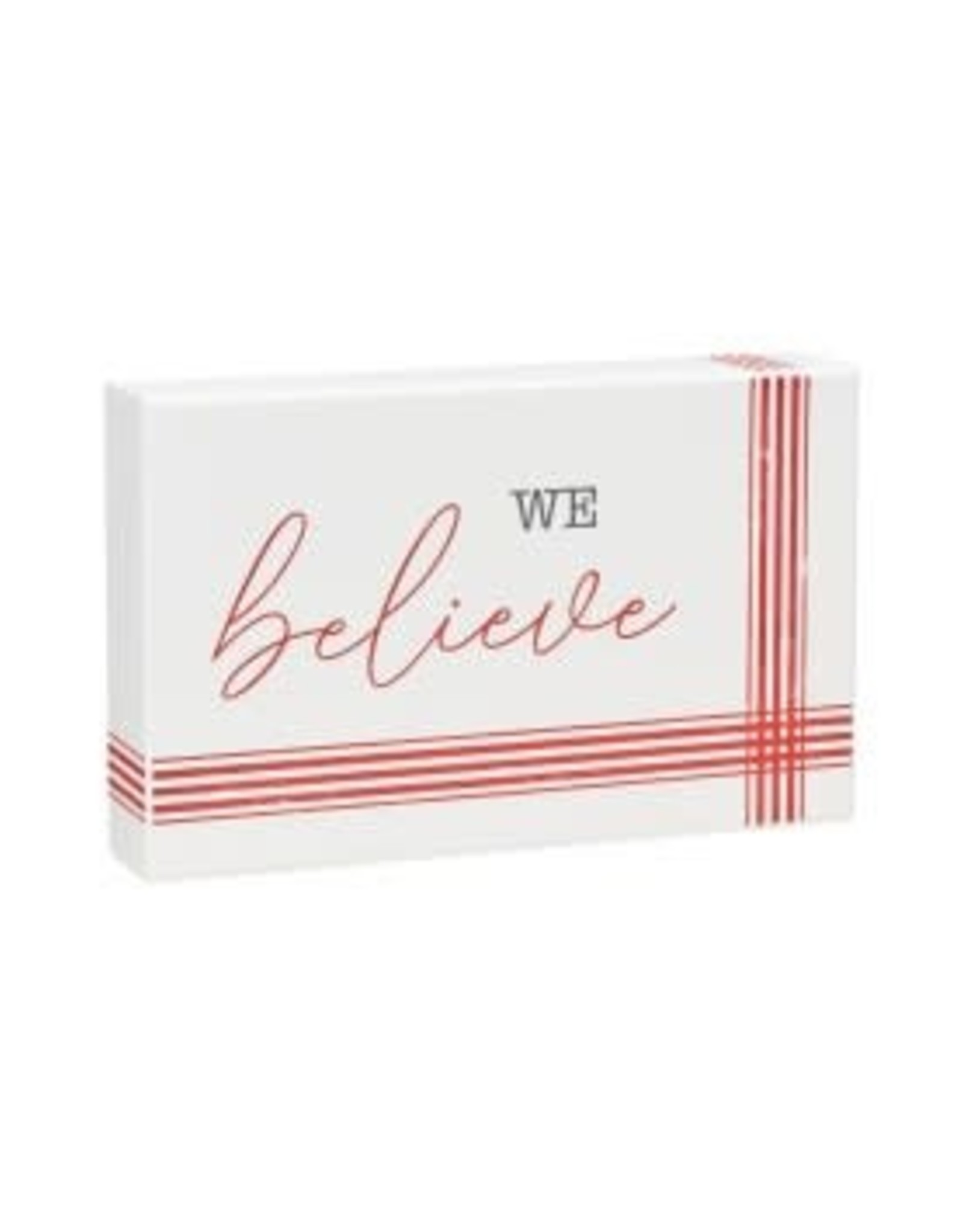Collins Painting & Desgin Holiday Box Sign Striped Believe
