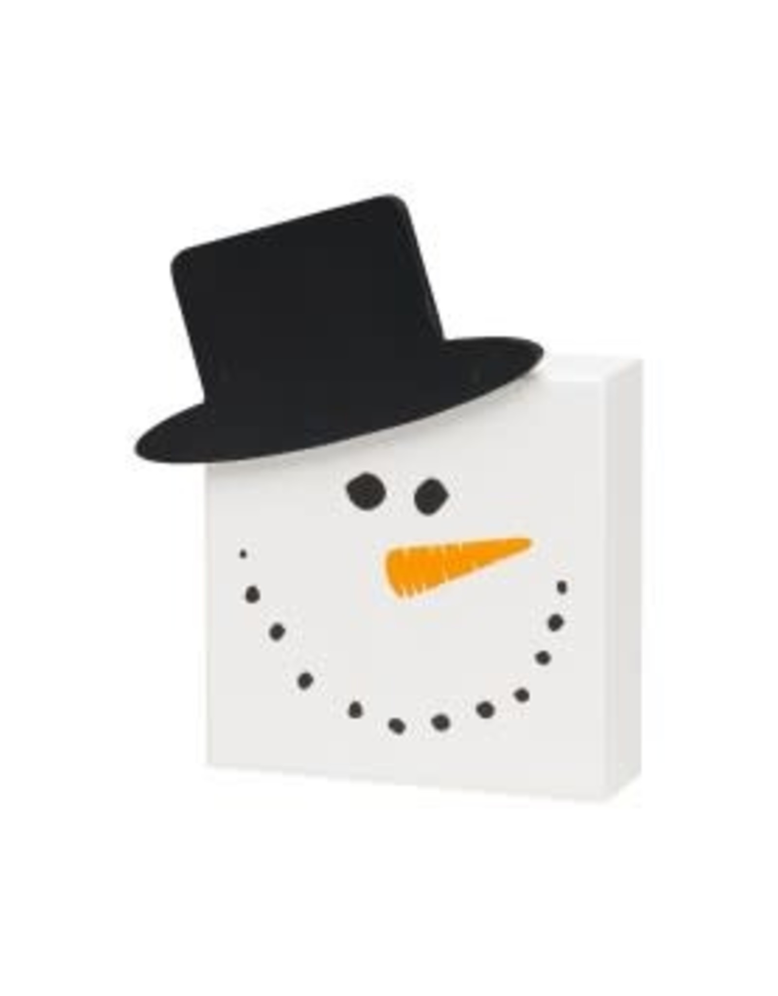 Collins Painting & Desgin Holiday Box Sign Snowman 3D