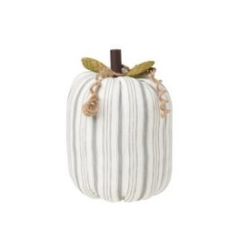 Collins Painting & Desgin Fabric Pumpkin Gray Stripe Large