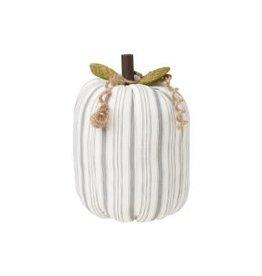 Fabric Pumpkin Gray Stripe Large
