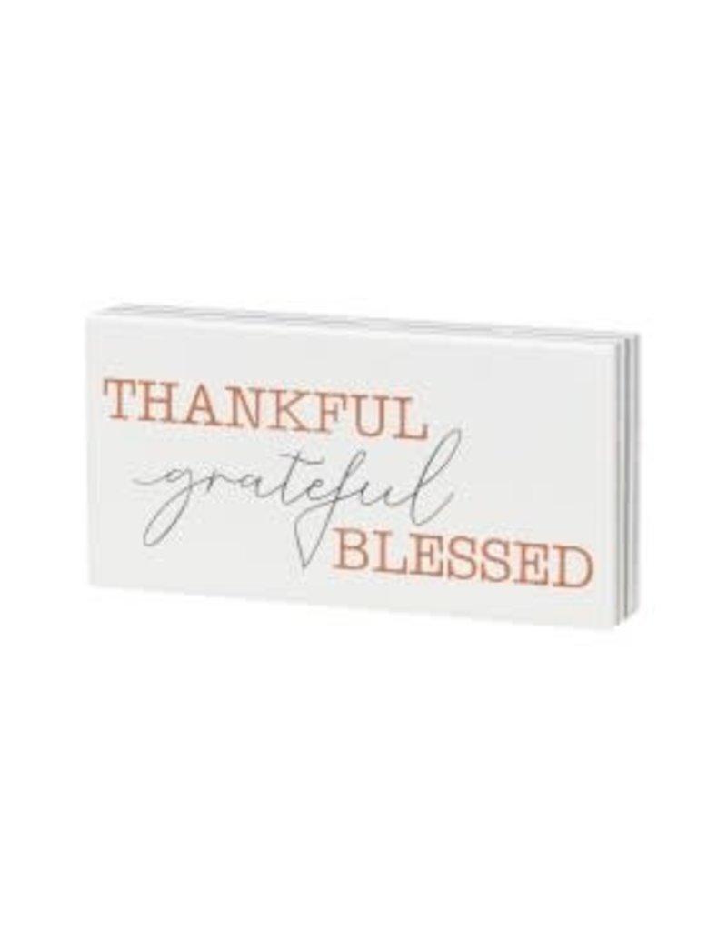 Box Sign Grateful Stripe