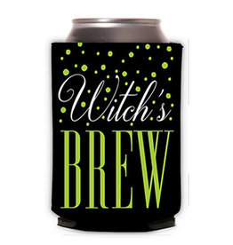 Roseanne Beck Halloween Can Cooler Witch's Brew