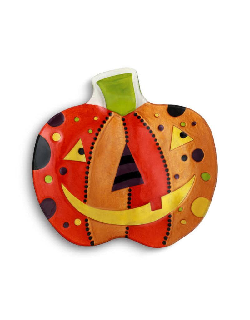 Demdaco Halloween Festive Jack O Lantern Platter