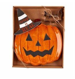 Halloween Pumpkin Cookie Plate Set