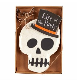 Mud Pie Halloween Skull Cookie Plate Set