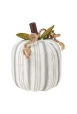 Collins Painting & Desgin Fabric Pumpkin Gray Stripe Small