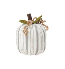 Collins Painting & Desgin Fabric Pumpkin Gray Stripe Small