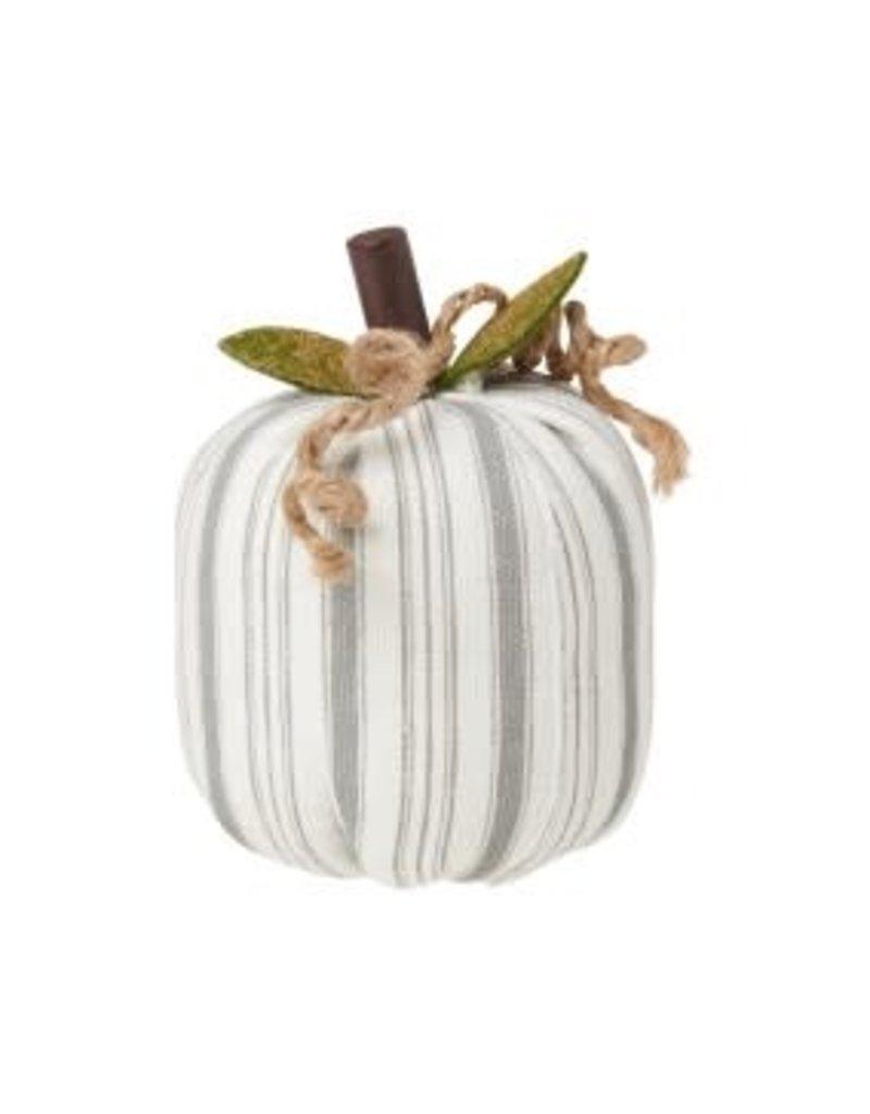 Fabric Pumpkin Gray Stripe Small