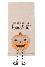 Halloween Dangle Leg Towel Jack O Lantern