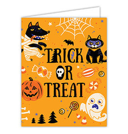 Roseanne Beck Folded Greeting Card Halloween Trick or Treat Icons