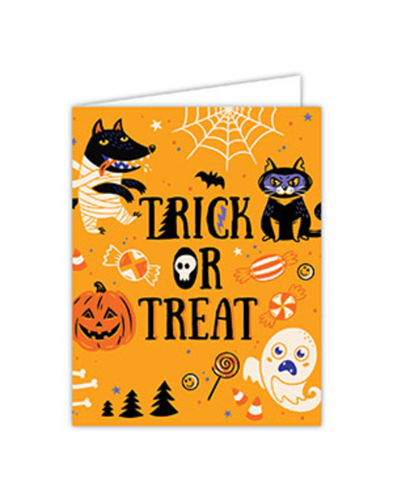 Greeting Card Halloween Trick or Treat Icons