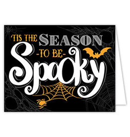 Roseanne Beck Folded Greeting Card Halloween Tis the Season to be Spooky