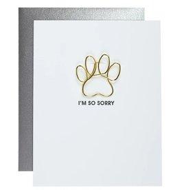 Chez Gagne Card- I'm So Sorry Pawprint