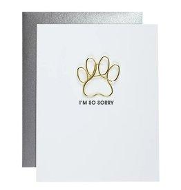 Card- I'm So Sorry Pawprint