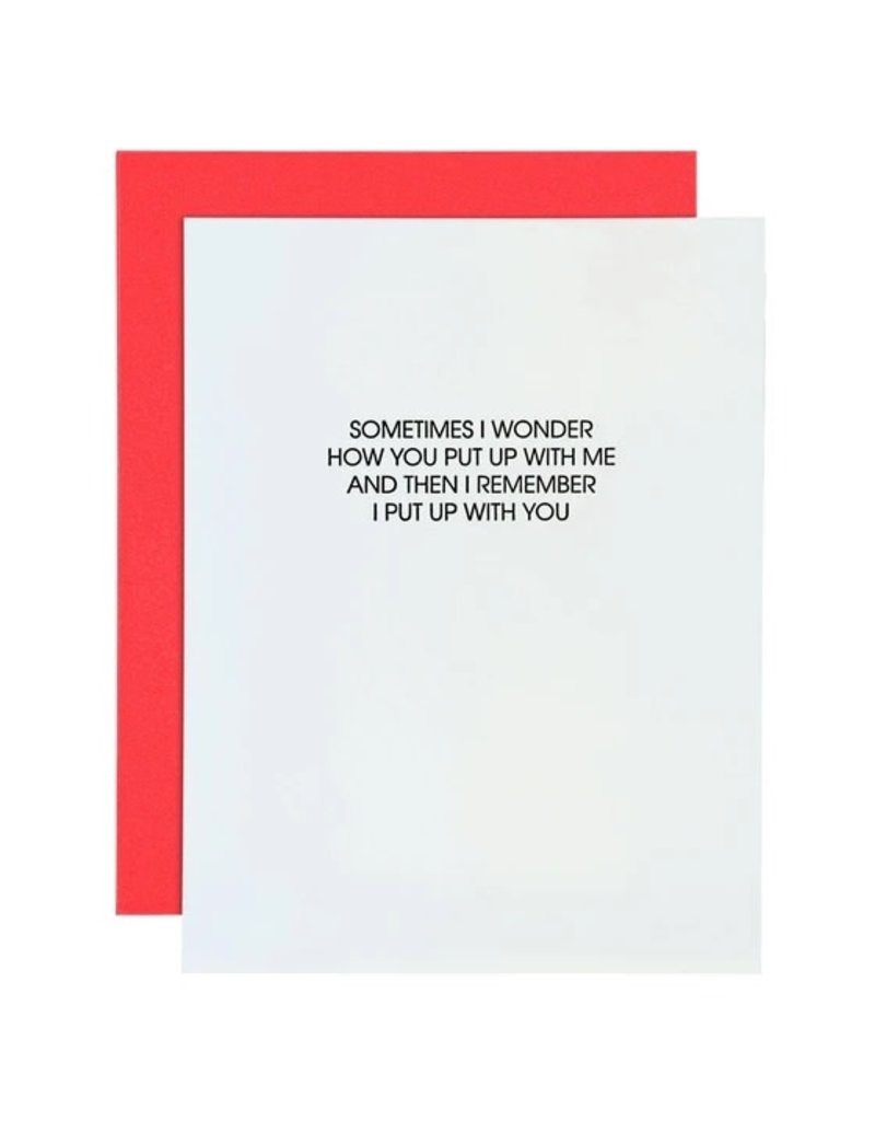 Card- Put Up With Me