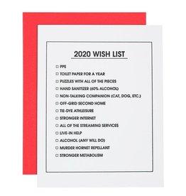 Card- 2020 Wish List