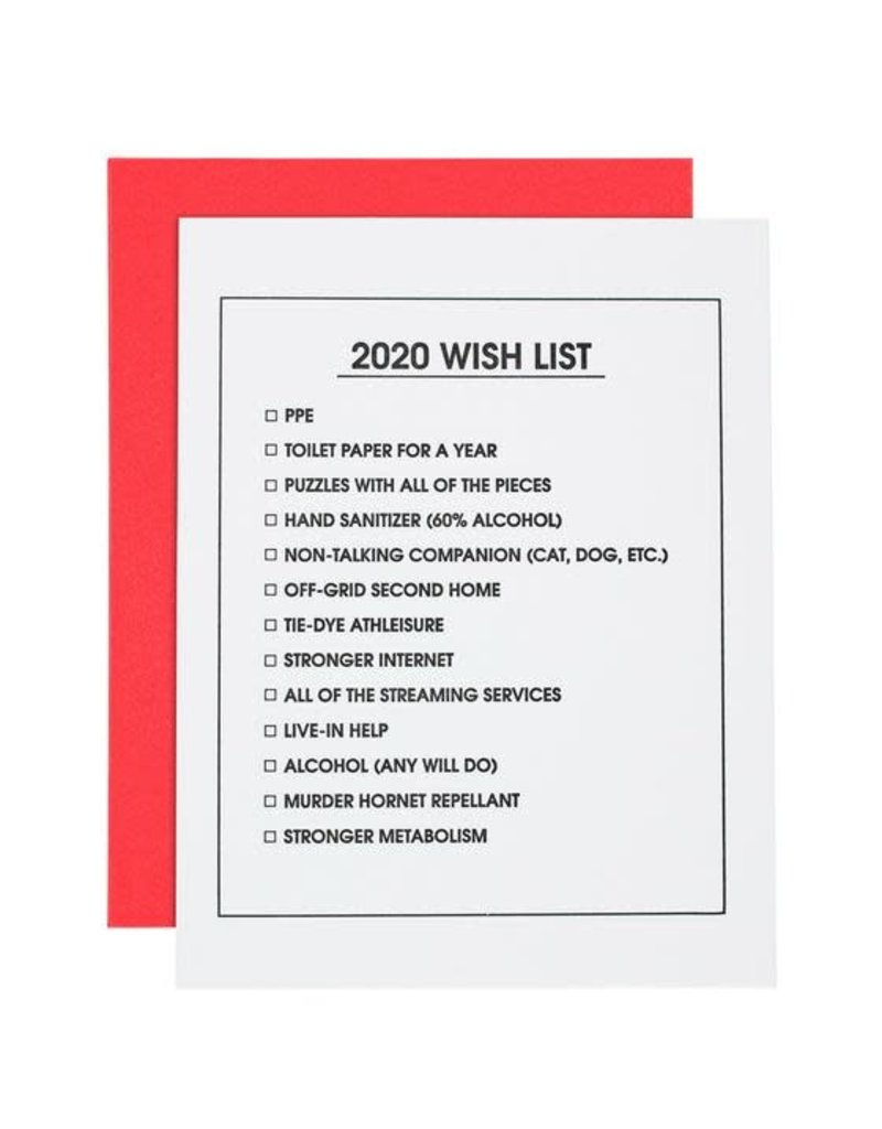 Card- 2020 Wish List