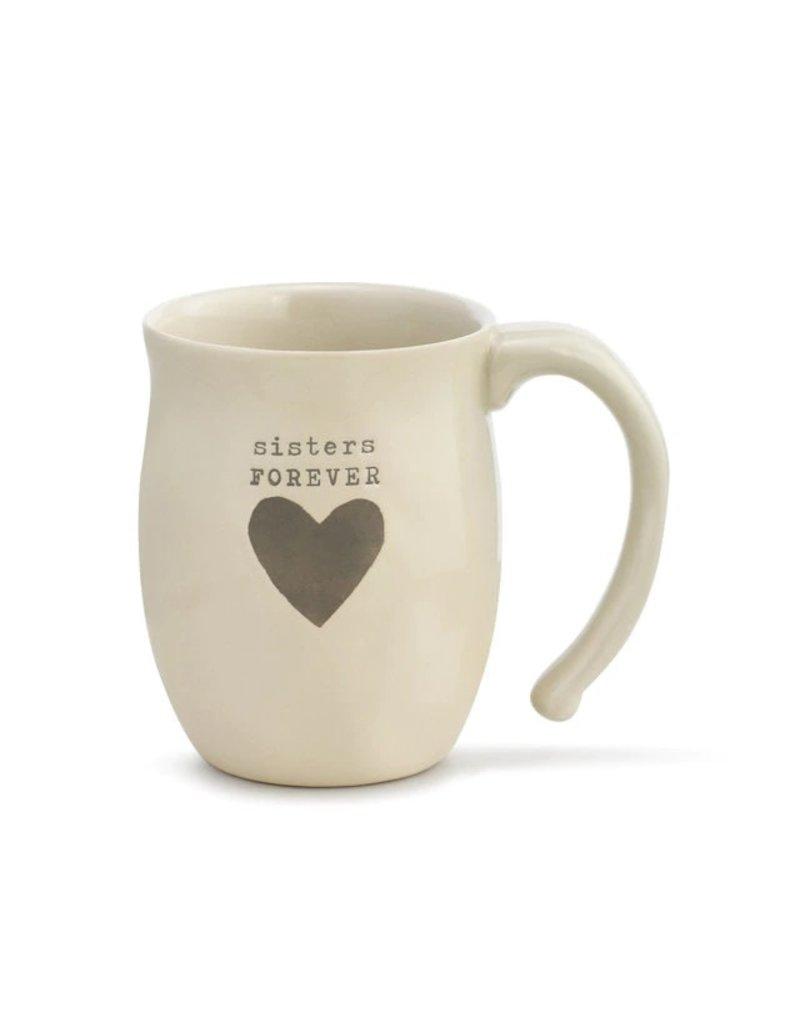 Demdaco Mug Sisters Forever Heart
