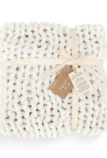 Chunky Knit Blanket Cream