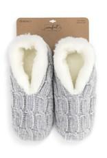 Chenille Slippers Gray Medium