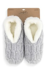 Chenille Slippers Gray Large
