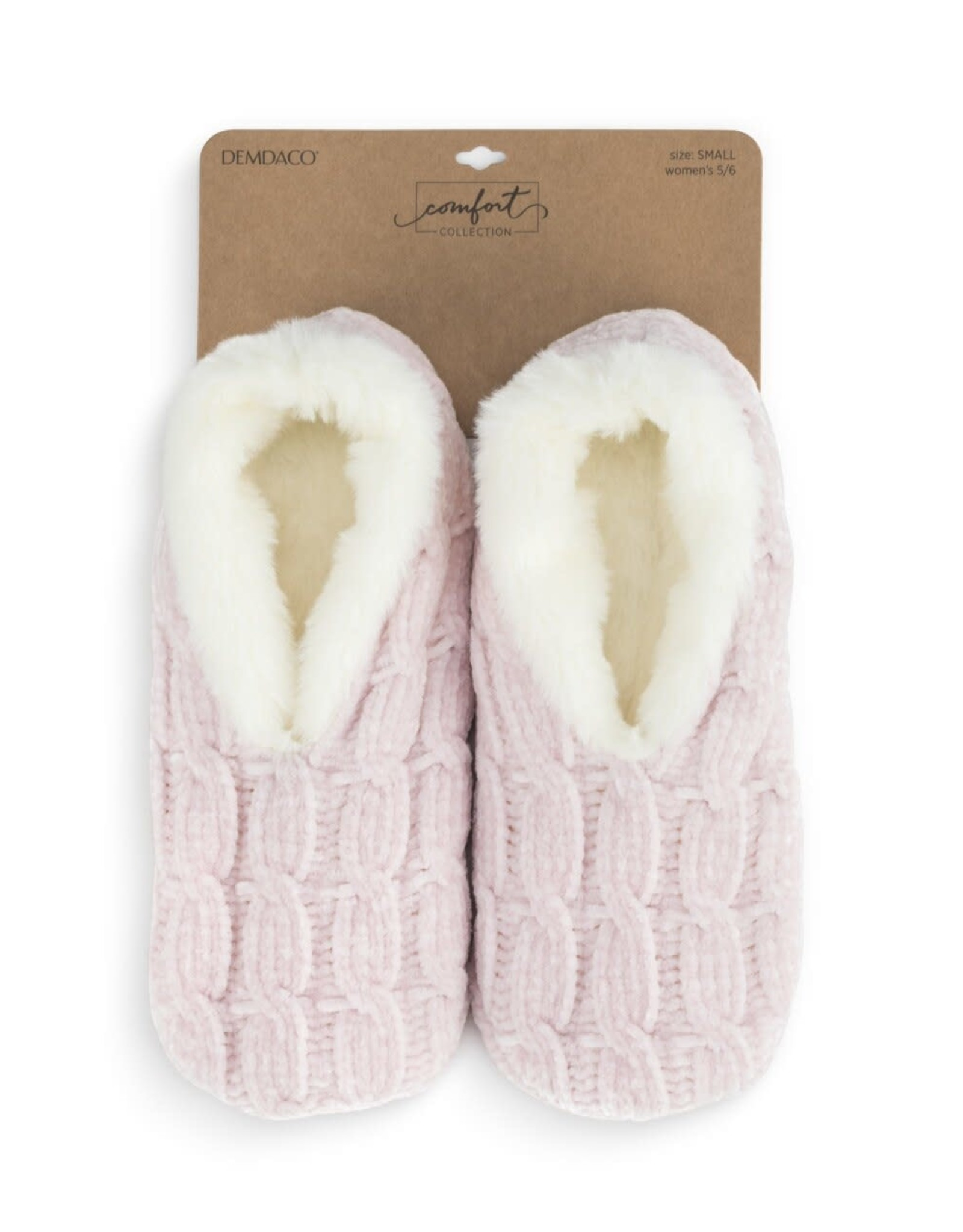 Chenille Slippers Blush Small