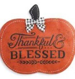 Door Screening Thankful & Blessed Pumpkin