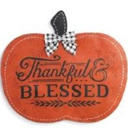 Demdaco Door Screening Thankful & Blessed Pumpkin