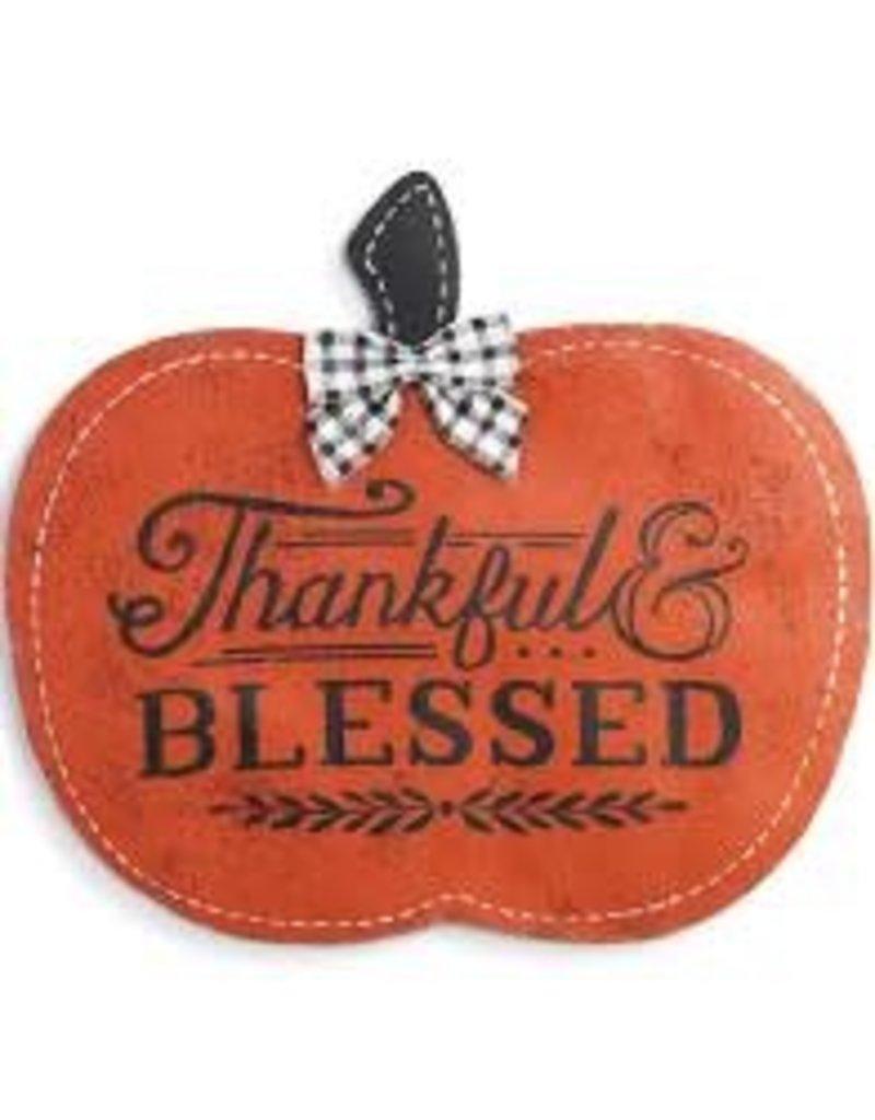 Demdaco Door Screening Thankful & Blessed Pumpkin