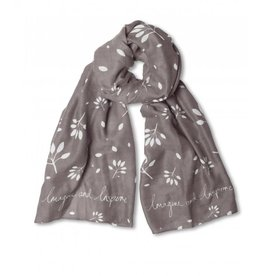 Katie Loxton Sentiment Scarf Imagine and Inspire Charcoal