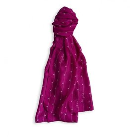 Katie Loxton Sentiment Scarf Shine Bright Berry Pink