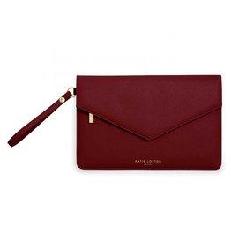 Katie Loxton Katie Loxton Esme Envelope Clutch- Follow Your Heart Burgundy