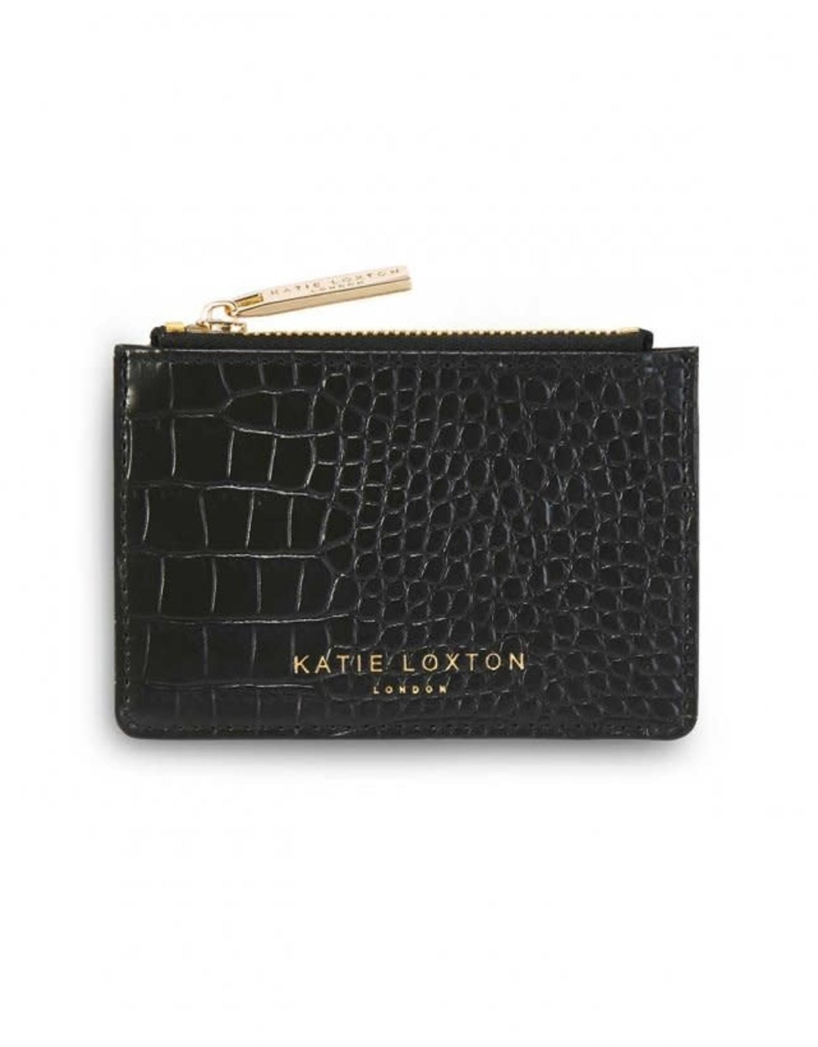 Katie Loxton Celine Croc Cardholder Black
