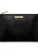 Katie Loxton Celine Croc Perfect Pouch-Black