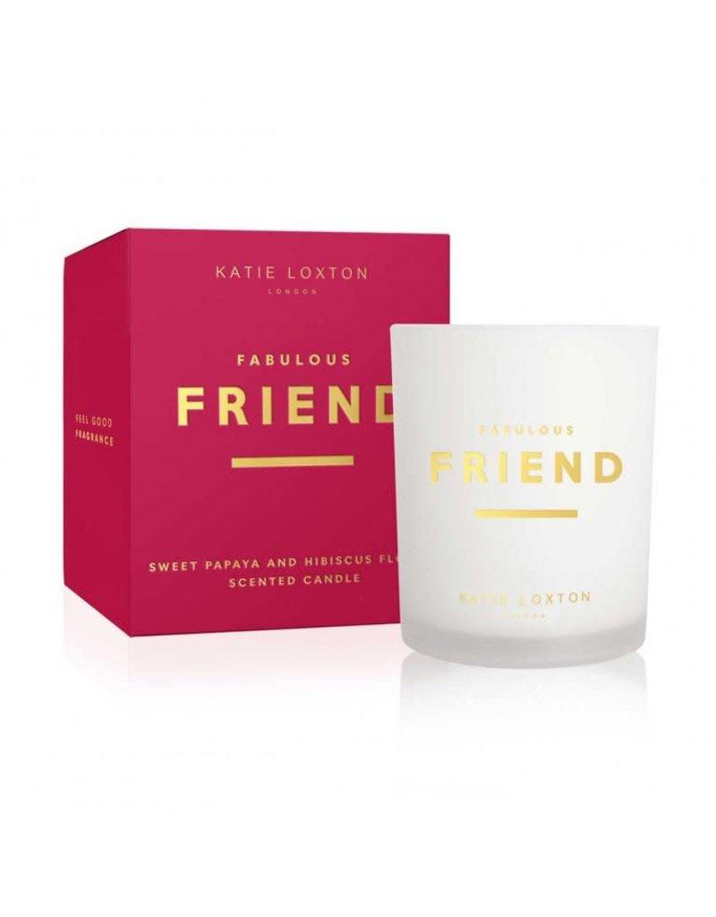 Katie Loxton Katie Loxton Sentiment Candle- Fabulous Friend Sweet Papaya & Hibiscus Flower