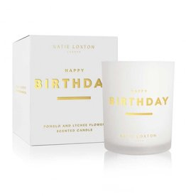 Katie Loxton Sentiment Candle Happy Birthday Pomelo & Lychee Flower