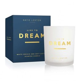 Katie Loxton Sentiment Candle Live to Dream White Orchid & Soft Cotton