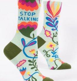 Sidewalk Sale Blue Q Women's Crew Socks (More!) Stop Talking