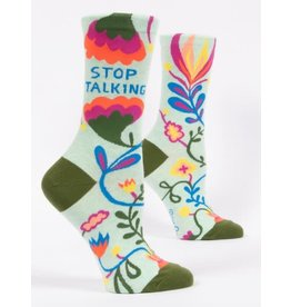 Blue Q Blue Q Women's Crew Socks (More!) Stop Talking