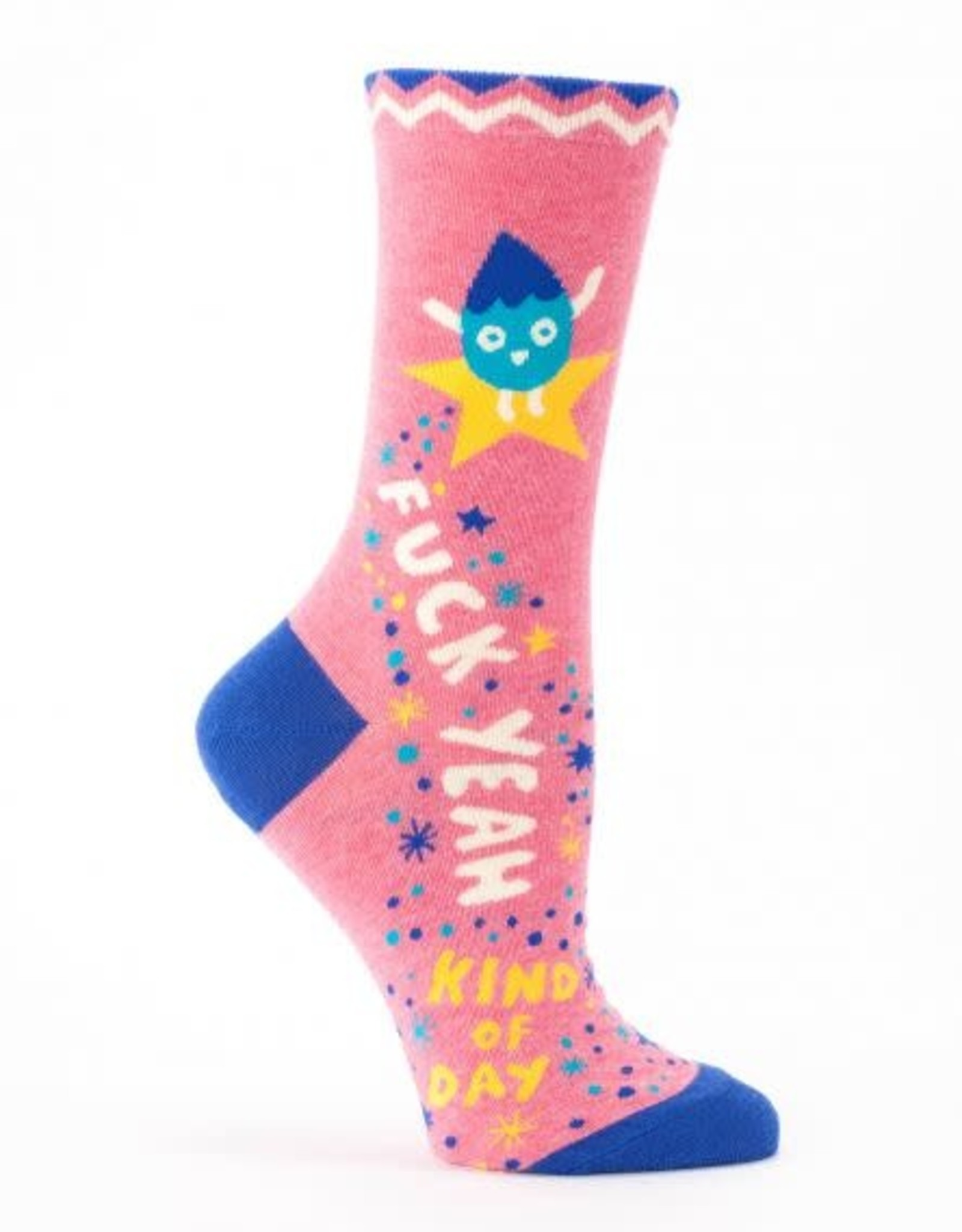 Blue Q Blue Q Adult Only Women's Crew Socks F-Yeah Day