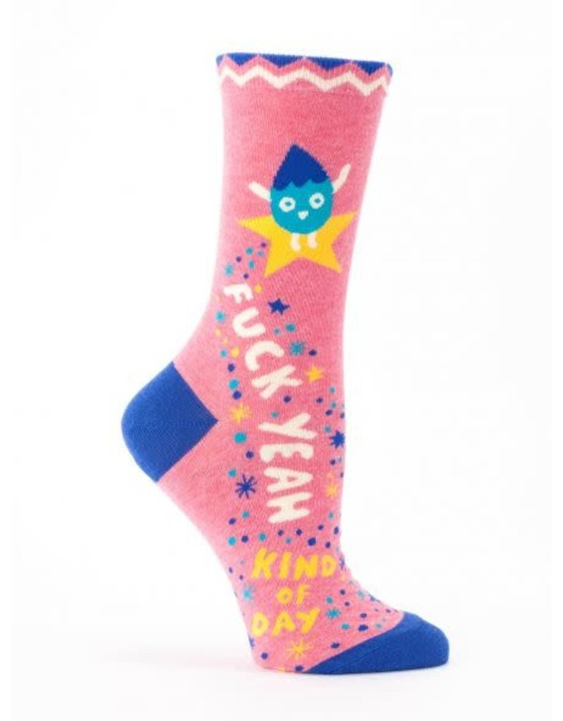 Blue Q Blue Q Adult Only Women's Crew Socks F-Yeah Day