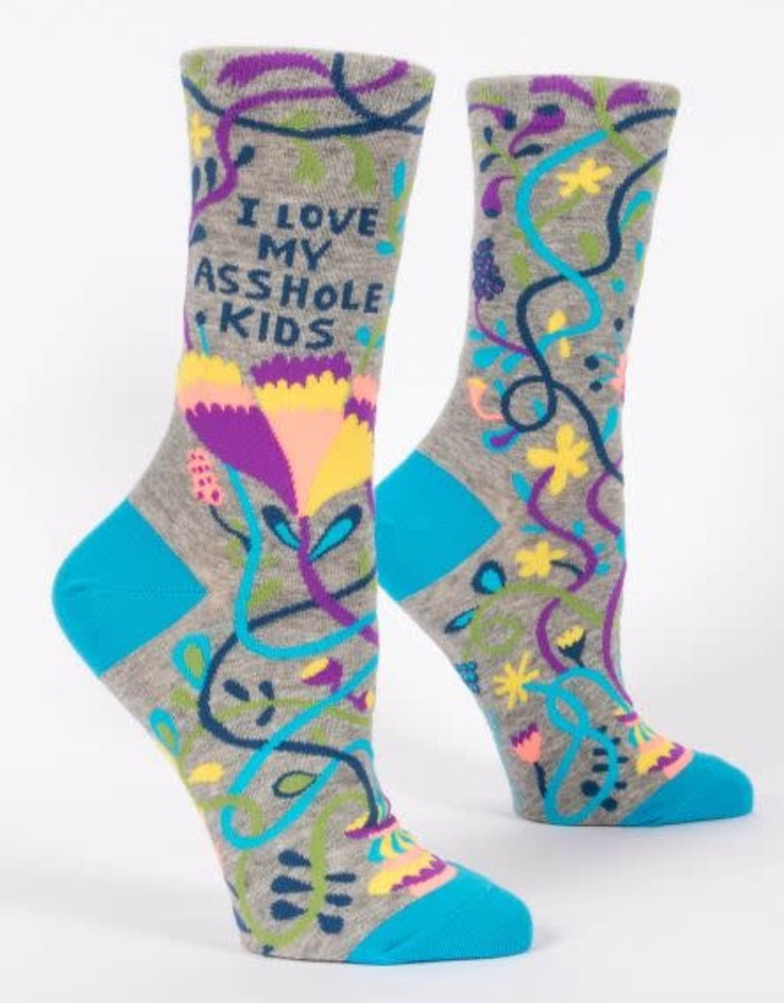 Blue Q Blue Q Women's Crew Socks Love My Asshole Kids