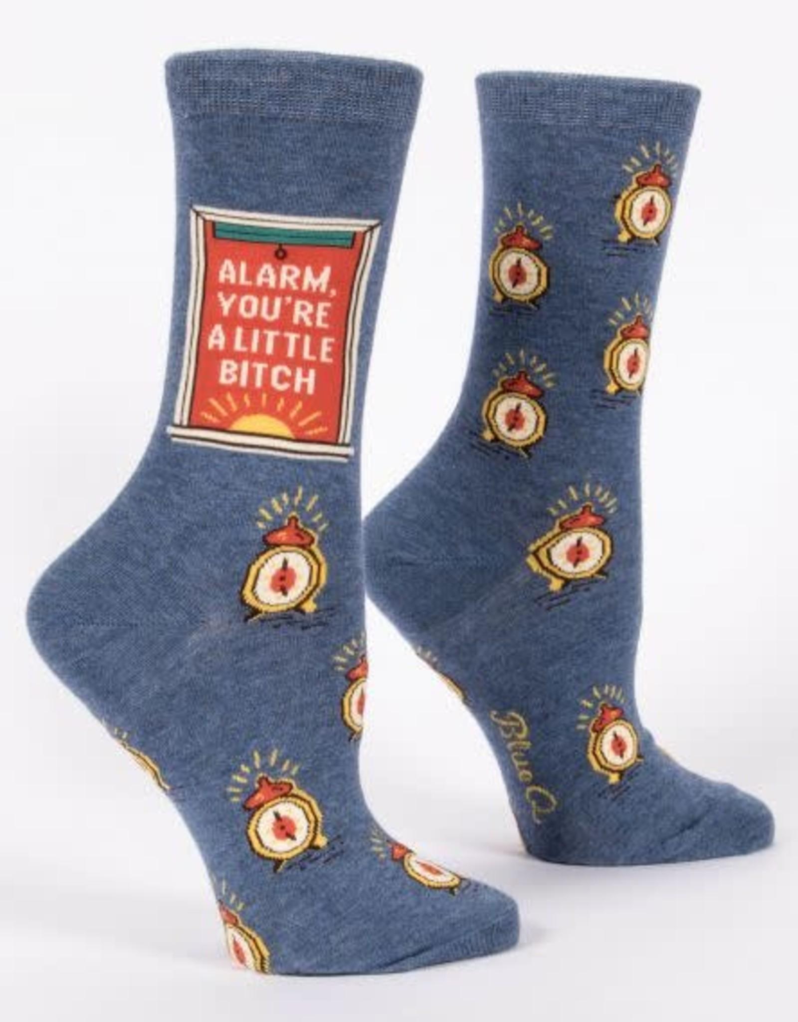 Blue Q Blue Q Women's Crew Socks (More!) Alarm Bitch