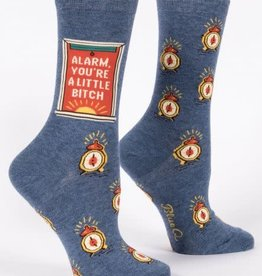 Sidewalk Sale Blue Q Women's Crew Socks (More!) Alarm Bitch