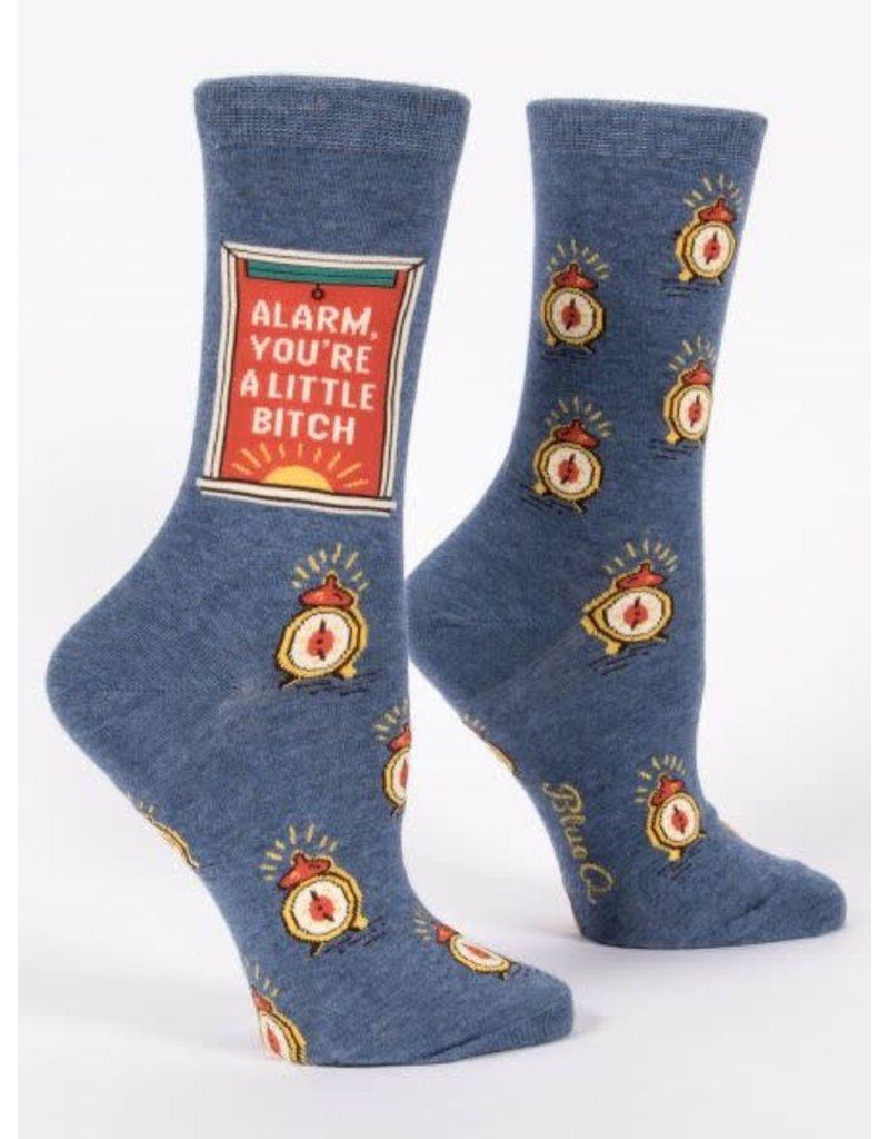Blue Q Blue Q Women's Crew Socks Alarm Bitch