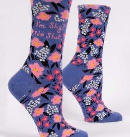 Blue Q Blue Q Women's Crew Socks I'm Shy No Shit