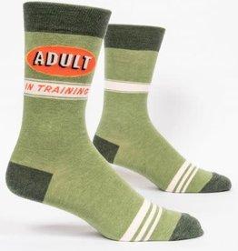 Sidewalk Sale Blue Q Men's Crew Socks Adult In Training