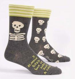 Sidewalk Sale Blue Q Men's Crew Socks I Almost Died