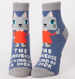 Blue Q Blue Q Women's Ankle Socks Universe is a Dick